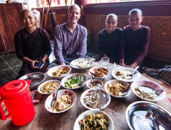 No such thing as a free lunch: Joining the pilgrimage at a monastery in Ye, Myanmar