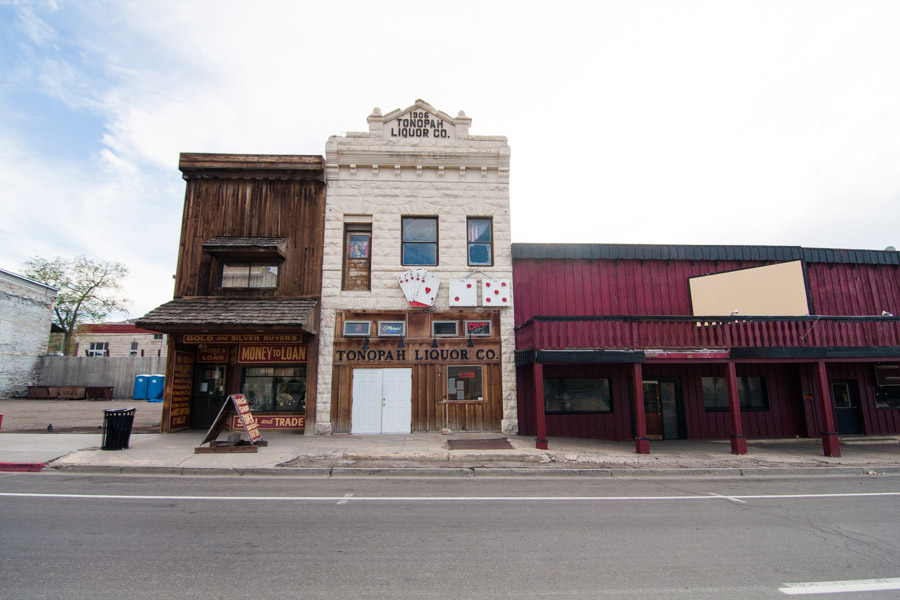 Tonopah's main street, straight out of the Old West